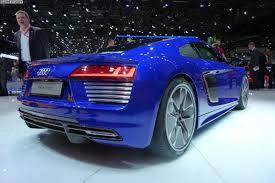 Audi R8 Blue - 2015 geneva motor show audi r8 v10 e tron and lms