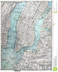 Old Nyc Subway Map by Old Street Map Of New York City Royalty Free Stock Photos Image