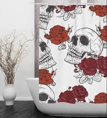 day of the dead shower curtain uk home design and decoration