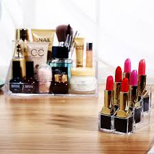 new clear acrylic plastic nail polish rack lipstick cosmetic