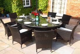 royal 8 seat brown oval table with carver armchairs oakita rattan