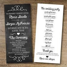 wording of wedding program 8 chalkboard wedding program templates psd vector eps ai