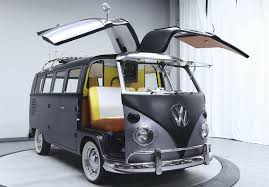 green volkswagen van 1967 volkswagen camper transformed into u0027back to the future u0027 time