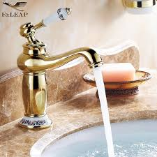 kitchen faucet black finish blue and white porcelain basin faucets solid brass polished gold