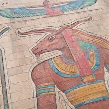 mummy the large miniature egyptian motif wall panels