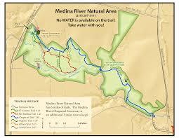 Yellow River Map Medina River Natural Area Hikesa Org
