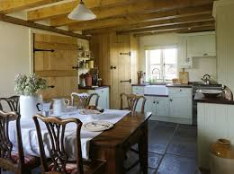 Country Cottage Kitchen Ideas I Actually Really Like The Combo Of Stone Floors Dark Counter