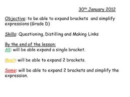 expanding single brackets by whidds teaching resources tes