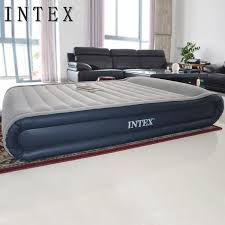 intex beds intex air bed queen size inflatable mattress with bulit in