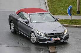 Mercedes C Class Coupe Convertible 2017 Mercedes Benz C Class Cabriolet Spy Shots With Top Down