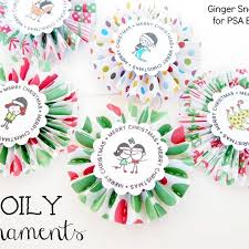 snap crafts doily ornaments with psa essentials tutorial