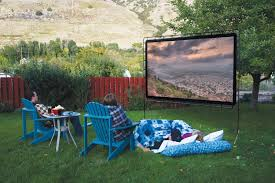 outdoor movie screen for viewing movies in your yard sweet