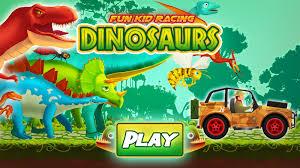 kid racing dinosaurs world