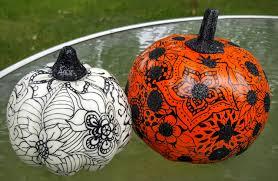 pumpkin decoration harvest fall pumpkin decoration graphic floral designs set