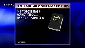 marine court martialed for displaying bible verse youtube
