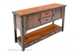 salvaged wood console table console sofa tables archives woodland creek furniture
