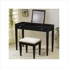Wood Vanity Table Coaster Wood Two Drawer Makeup Vanity Table Set Bedroom Vanities