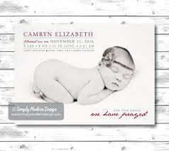 modern new years cards birth announcement for this child we prayed christmas