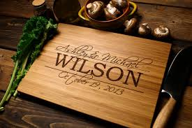 monogramed cutting board personalized chopping board experience days gift ideas in