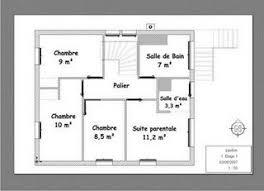 plan etage 4 chambres plan maison 4 chambres suite parentale fabulous plan maison plain