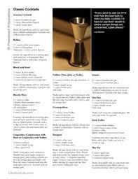 printable shot recipes classic cocktails 25 preeminent preparations libation lab