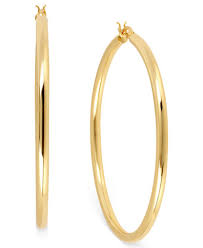 hoop earing hint of gold 14k gold plated brass earrings 50mm hoop earrings