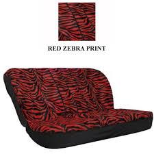 rear car truck suv bench seat cover animal print red zebra