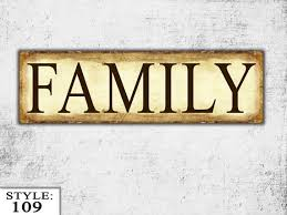 wooden family sign family gift living room sign wood wall hanging