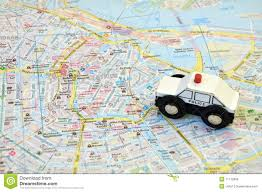 Map Of Amsterdam Amsterdam City On A Road Map Stock Photo Image 57812196