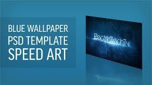 wallpaper template blue desktop wallpaper speed with psd template