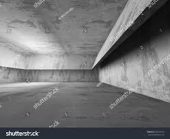 Basement Room by Dark Empty Concrete Basement Room Interior Stock Illustration
