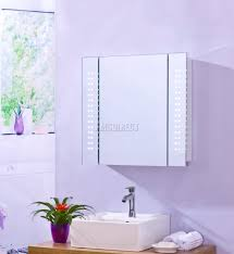 Bathroom Mirror Cabinet With Shaver Socket Foxhunter Led Illuminated Mirror Bathroom Cabinet Steel Storage