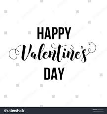 happy valentines day modern calligraphy lettering stock vector