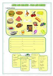 15 best food images on pinterest vocabulary worksheets food