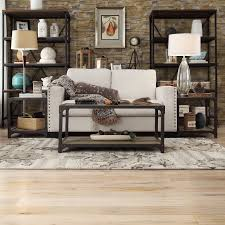 Rustic Wooden Couch Living Room Rustic Rug Along Purple Carpet Window Back Couch Arm