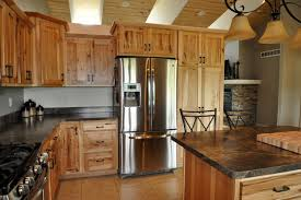 rustic hickory kitchen cabinets country style rustic hickory farmhouse kitchen chicago by