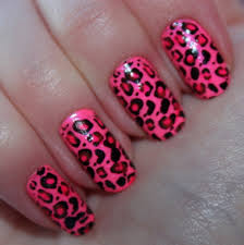 pink leopard nails shared by anni on we it