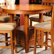 Oak Bistro Table Santa Rosa Mission Oak Pub Table Bernie Phyl S Furniture By