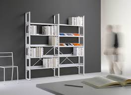 Office Shelf Decorating Ideas Contemporary Shelf Metal For Offices Quadrotto Qs Emme Italia