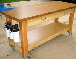 Plans For Making A Wooden Workbench by Ideas To Paint Rolling Workbench Modern Table Design