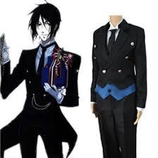 Halloween Butler Costume Discount Sebastian Black Butler Costume 2017 Sebastian Black