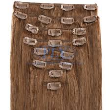 clip hair canada 18 inches clip in hair extensions canada color 6 chestnut brown