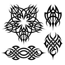 complete set tattoo flash art demon tribal immediate download