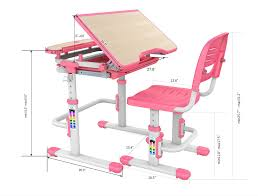 adjustable height kids table the bobbie children adjustable tilting desk chair set blue or