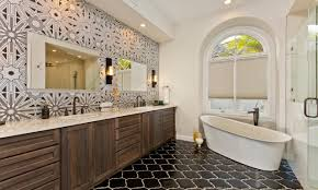 decorate master bathroom black finish stained wooden frame window
