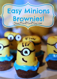 minion party ideas diy easy minions brownies recipe minions party ideas