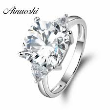 square cut rings images Big 5 carat cushion square cut wedding ring 3 stones rings 925 jpg