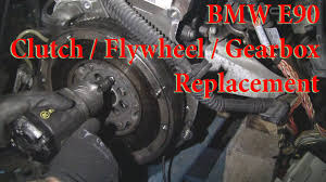 bmw e90 clutch flywheel gearbox change youtube
