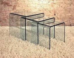 glass coffee table nest viva modern arch small table nest end table bent glass