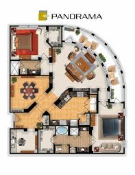 The Panorama Floor Plan by Floorplan Of The Panorama Condo At The Enclave At Hillsboro